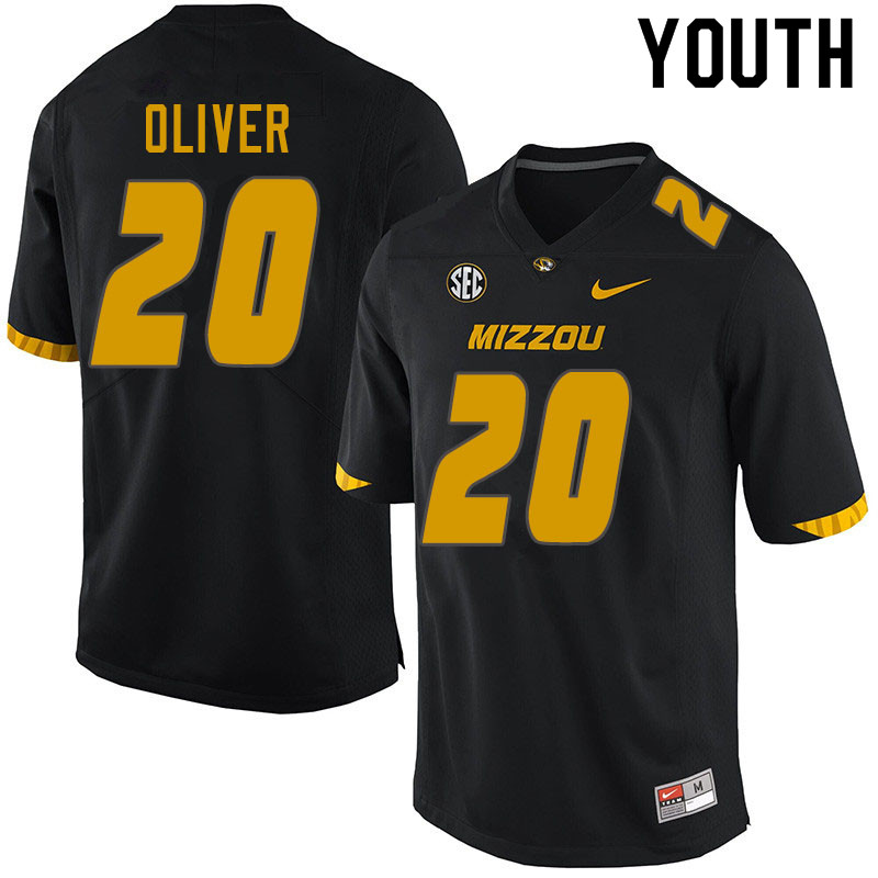 Youth #20 Khalil Oliver Missouri Tigers College Football Jerseys Sale-Black