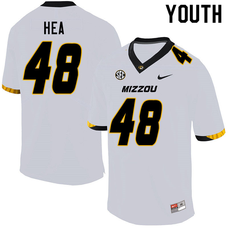 Youth #48 Niko Hea Missouri Tigers College Football Jerseys Sale-White