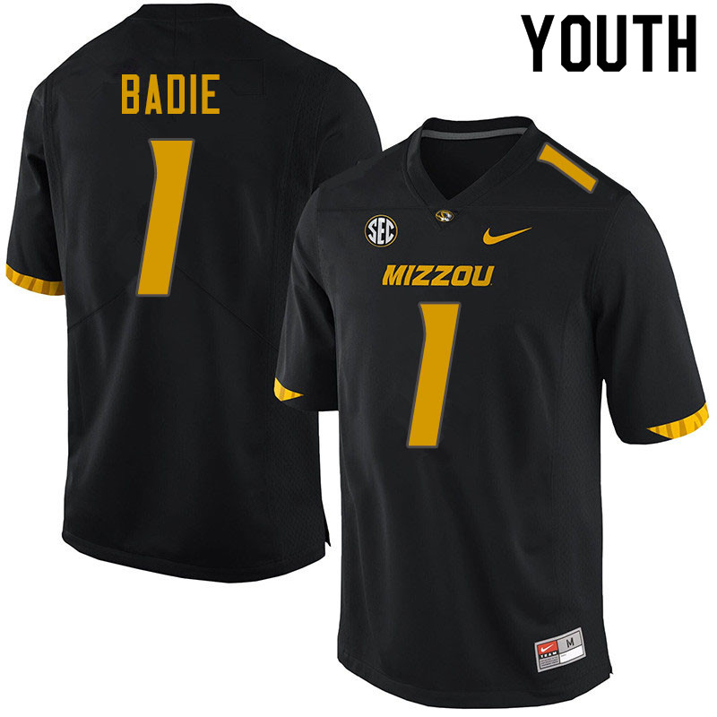 Youth #1 Tyler Badie Missouri Tigers College Football Jerseys Sale-Black