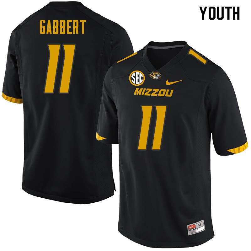 Youth #11 Blaine Gabbert Missouri Tigers College Football Jerseys Sale-Black