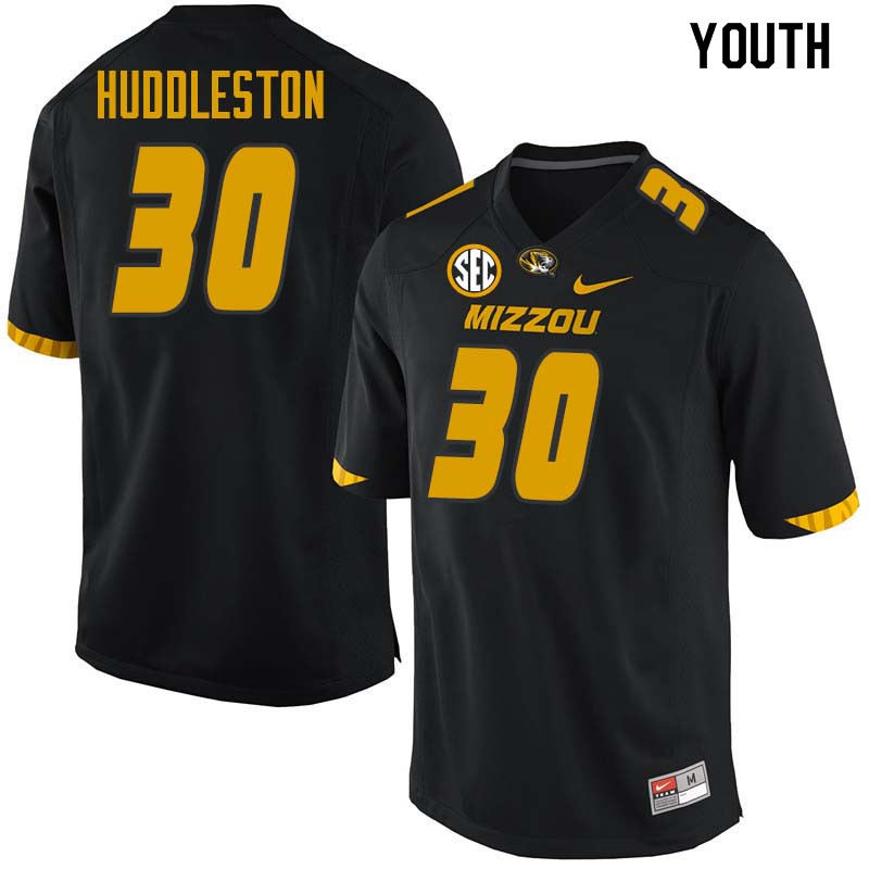 Youth #30 Carrington Huddleston Missouri Tigers College Football Jerseys Sale-Black