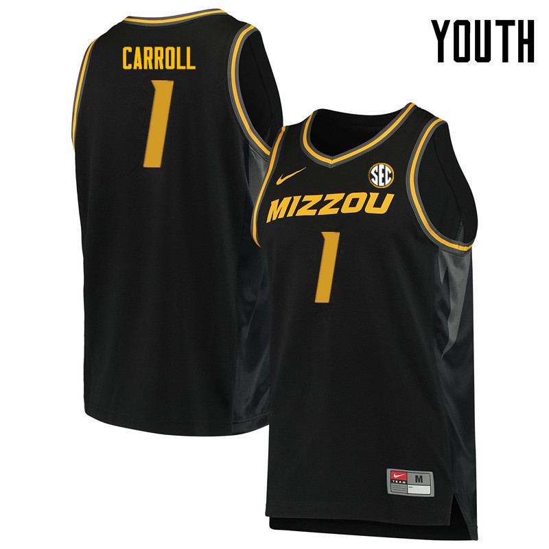 Youth #1 DeMarre Carroll Missouri Tigers College Basketball Jerseys Sale-Black
