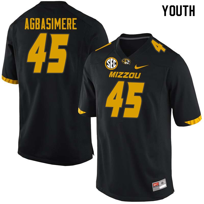 Youth #45 Franklin Agbasimere Missouri Tigers College Football Jerseys Sale-Black