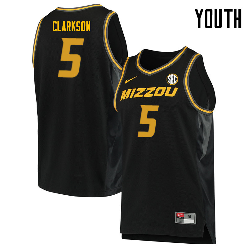 Youth #5 Jordan Clarkson Missouri Tigers College Basketball Jerseys Sale-Black