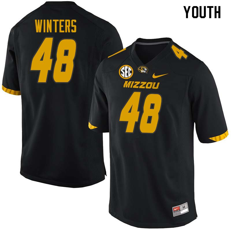 Youth #48 Roderick Winters Missouri Tigers College Football Jerseys Sale-Black