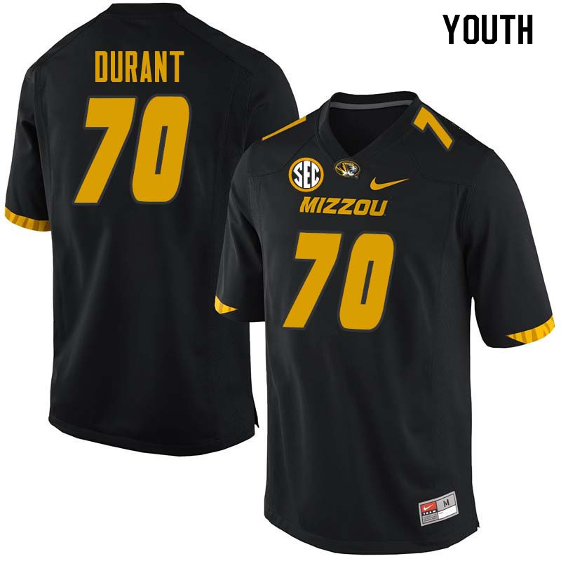 Youth #70 Yasir Durant Missouri Tigers College Football Jerseys Sale-Black